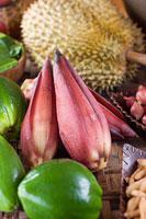ドリアン 青パパイヤ バナナの花