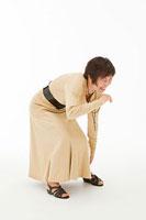 足を痛めた50代女性