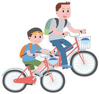 サイクリングを楽しむ親子 11002054755| 写真素材・ストックフォト・画像・イラスト素材|アマナイメージズ