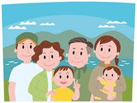 親子三代の記念撮影 11002054939| 写真素材・ストックフォト・画像・イラスト素材|アマナイメージズ