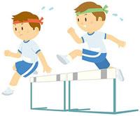 ハードルを跳ぶ男の子 11002055077| 写真素材・ストックフォト・画像・イラスト素材|アマナイメージズ