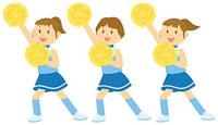 チアダンスを踊る女子中学生