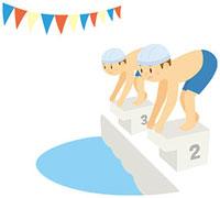 水泳大会 11002055118  写真素材・ストックフォト・画像・イラスト素材 アマナイメージズ