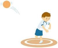 ハンドボール投げをする男子中学生 11002055126| 写真素材・ストックフォト・画像・イラスト素材|アマナイメージズ