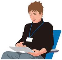 タブレットPCを操作する男性 11002055157| 写真素材・ストックフォト・画像・イラスト素材|アマナイメージズ