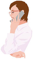 携帯電話で話す女性 11002055184| 写真素材・ストックフォト・画像・イラスト素材|アマナイメージズ