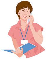 携帯電話で話す女性 11002055186| 写真素材・ストックフォト・画像・イラスト素材|アマナイメージズ