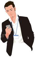スマートフォンを操作する男性 11002055189| 写真素材・ストックフォト・画像・イラスト素材|アマナイメージズ