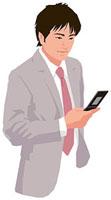 携帯電話を操作する男性 11002055190| 写真素材・ストックフォト・画像・イラスト素材|アマナイメージズ