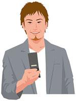 携帯電話を操作する男性 11002055191| 写真素材・ストックフォト・画像・イラスト素材|アマナイメージズ