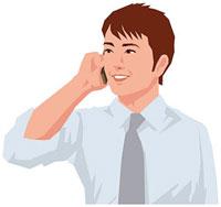 携帯電話で通話する男性 11002055192| 写真素材・ストックフォト・画像・イラスト素材|アマナイメージズ