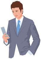 携帯電話を操作する男性 11002055193| 写真素材・ストックフォト・画像・イラスト素材|アマナイメージズ