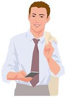 スマートフォンを片手に持つ男性 11002055194| 写真素材・ストックフォト・画像・イラスト素材|アマナイメージズ