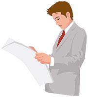新聞を読む男性 11002055223  写真素材・ストックフォト・画像・イラスト素材 アマナイメージズ