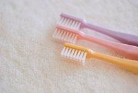 タオルの上の歯ブラシ