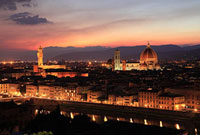 フィレンツェ市街 夕景