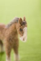フェルトの馬と緑の背景 11002064963| 写真素材・ストックフォト・画像・イラスト素材|アマナイメージズ