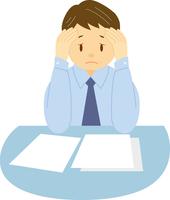 ストレスを溜める中年男性