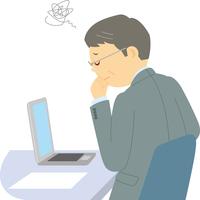業績不振に悩む中高年男性