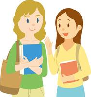 欧米系女性の留学生と日本人学生 11002068783| 写真素材・ストックフォト・画像・イラスト素材|アマナイメージズ
