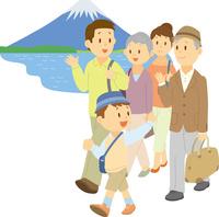 旅行に出掛ける三世代家族 11002068941  写真素材・ストックフォト・画像・イラスト素材 アマナイメージズ
