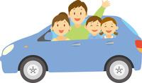 マイカーに乗る親子 11002068966  写真素材・ストックフォト・画像・イラスト素材 アマナイメージズ