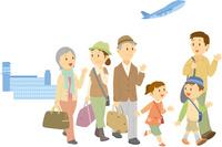 旅行に出掛ける三世代家族 11002068972  写真素材・ストックフォト・画像・イラスト素材 アマナイメージズ