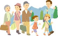 旅行に出掛ける三世代家族 11002068975  写真素材・ストックフォト・画像・イラスト素材 アマナイメージズ