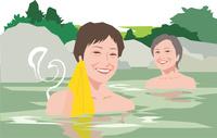 温泉旅行を楽しむアクティブシニアの女性 11002069142  写真素材・ストックフォト・画像・イラスト素材 アマナイメージズ