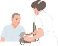 健康診断を受けるアクティブシニアの男性