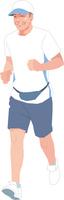 ジョギングをするアクティブシニアの男性
