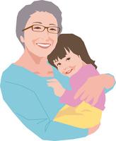 孫を抱くアクティブシニアの女性 11002069192| 写真素材・ストックフォト・画像・イラスト素材|アマナイメージズ