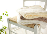 椅子の上のバスタオル
