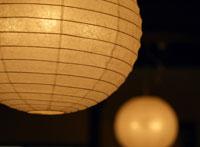 和紙でできた照明