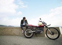 バイクと日本人男性