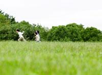 緑と日本人の子供達
