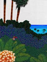 島の風景 イラスト