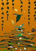 鳥と植物 イラスト