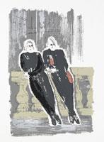 女性2人のイラスト