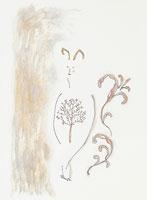 植物と人のイメージイラスト