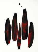 黒と赤の墨絵イメージ