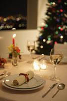 クリスマスディナーのためのテーブル