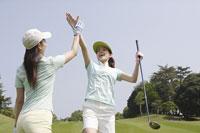 ゴルフ場の女性達