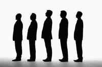 五人のビジネスマンのシルエット 11004033371| 写真素材・ストックフォト・画像・イラスト素材|アマナイメージズ