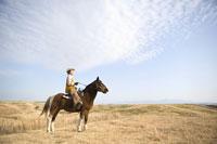 馬に乗った男性