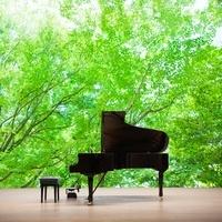 新緑とグランドピアノ