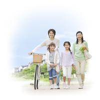 4人の日本人家族