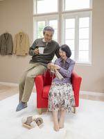 日本人のシニア夫婦