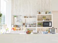 キッチンのインテリア 11004113108| 写真素材・ストックフォト・画像・イラスト素材|アマナイメージズ