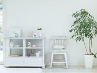 飾り棚とイス 11004113606| 写真素材・ストックフォト・画像・イラスト素材|アマナイメージズ